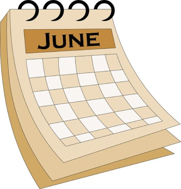 June Calendar Clip Art