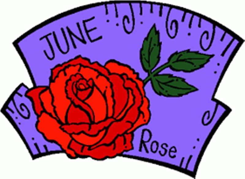 June Flower Rose Clip Art