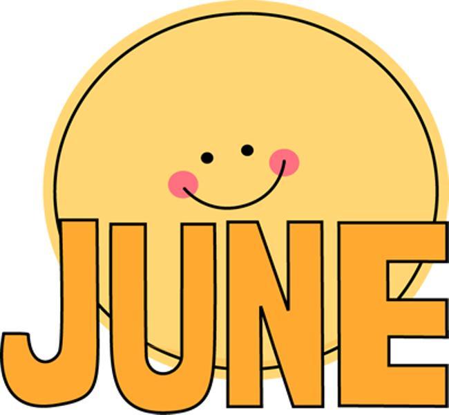 June Month Sun Clip Art Images