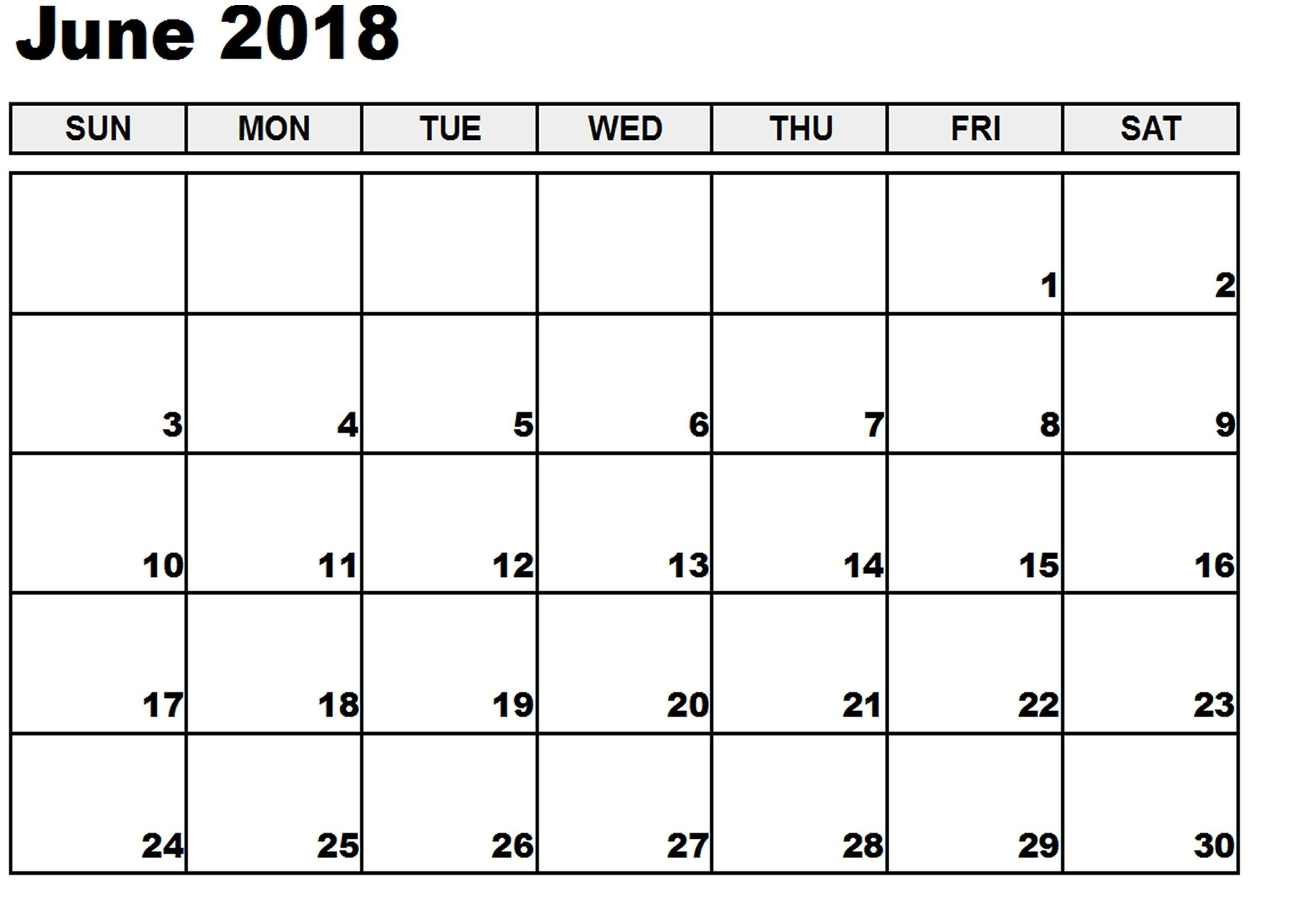 calendar template that you can type in - free downloadable calendar template june 2018 monthly
