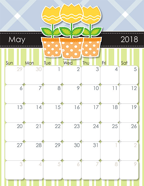 May 2018 Blank Calendar Images