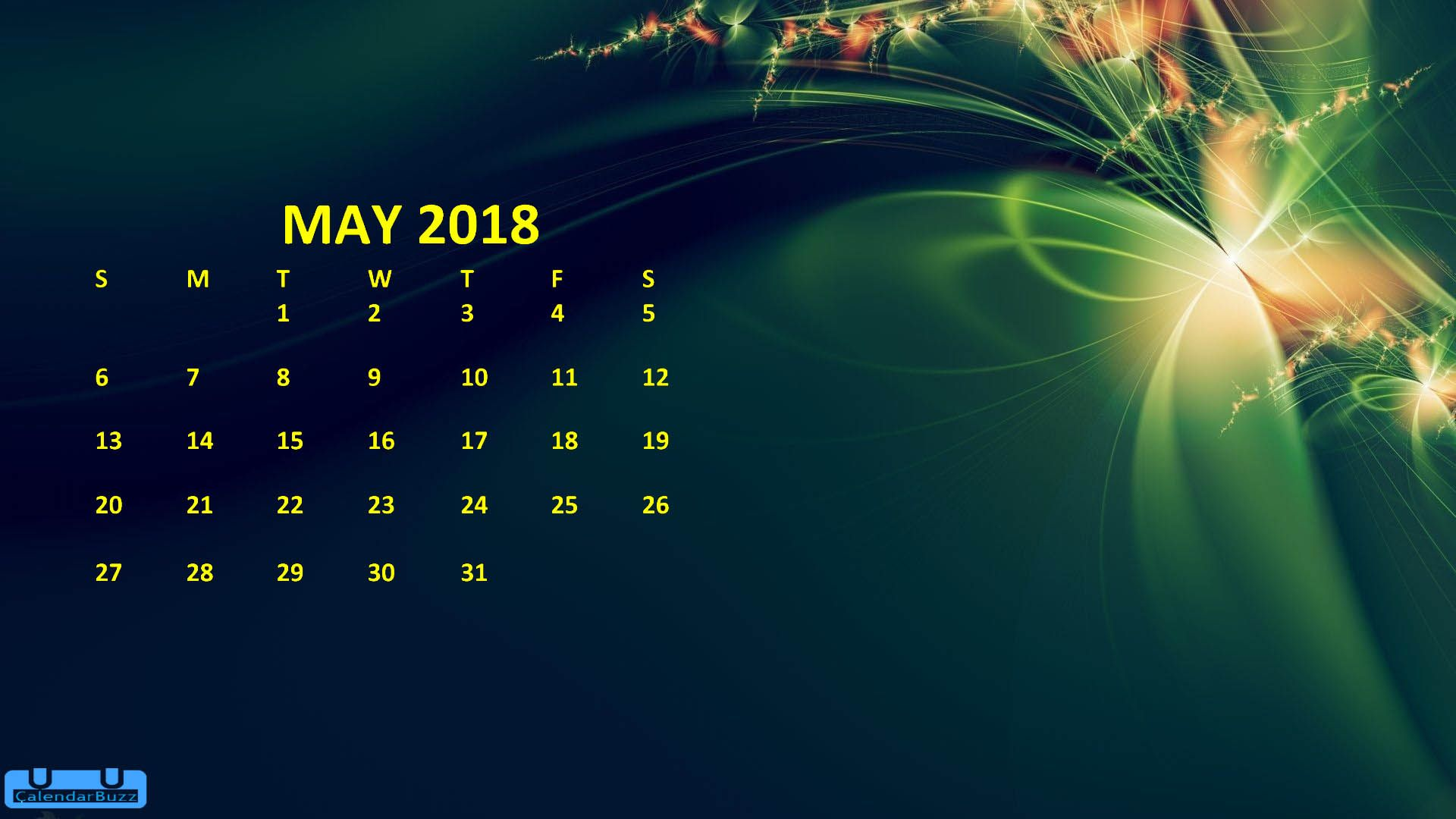 May 2018 Calendar HD Wallpaper