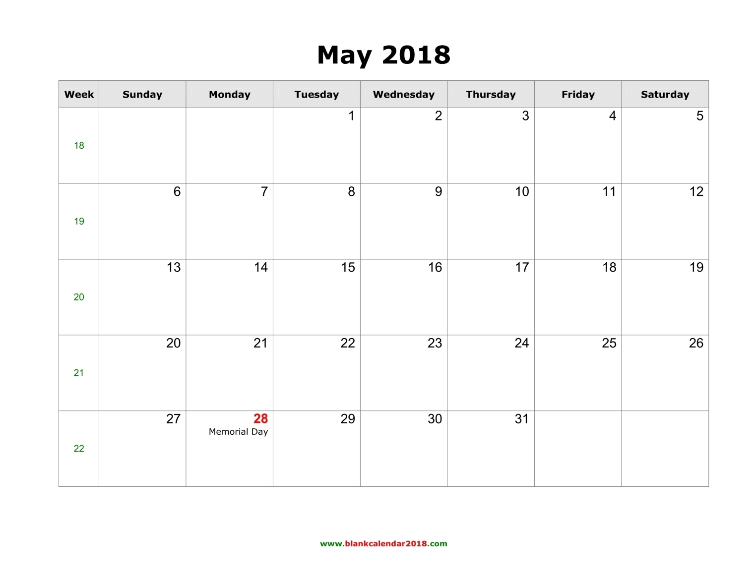 May 2018 Calendar Indian Holidays
