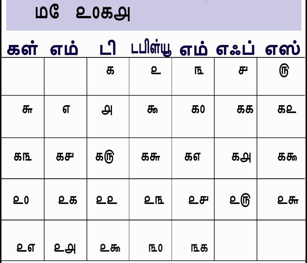 May 2018 Calendar Tamil