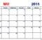 May 2018 Calendar Word Printable