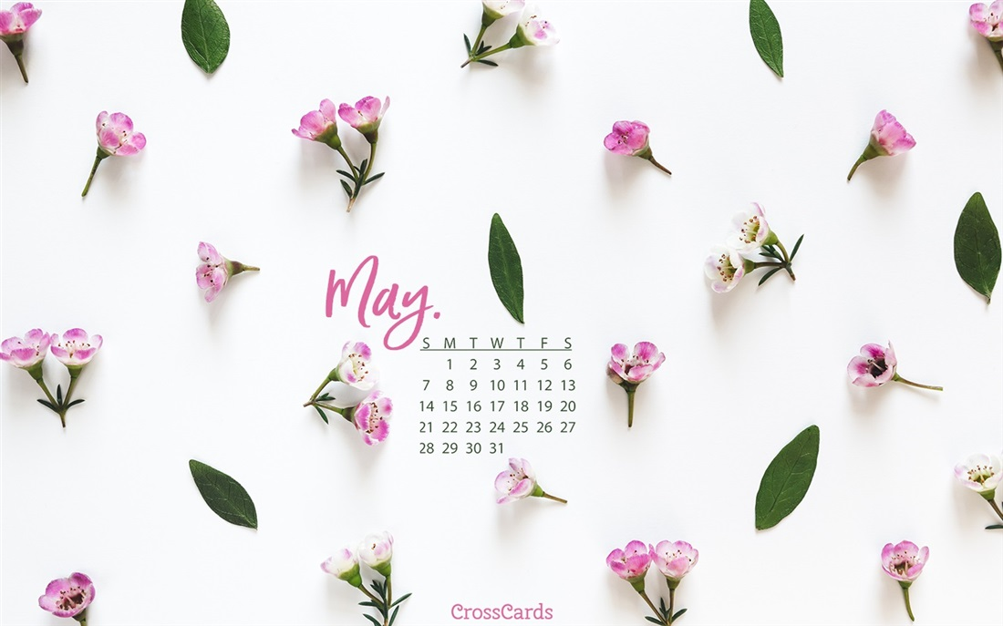 May 2018 Calendar for Desktop