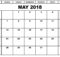 May 2018 Calendar In Excel