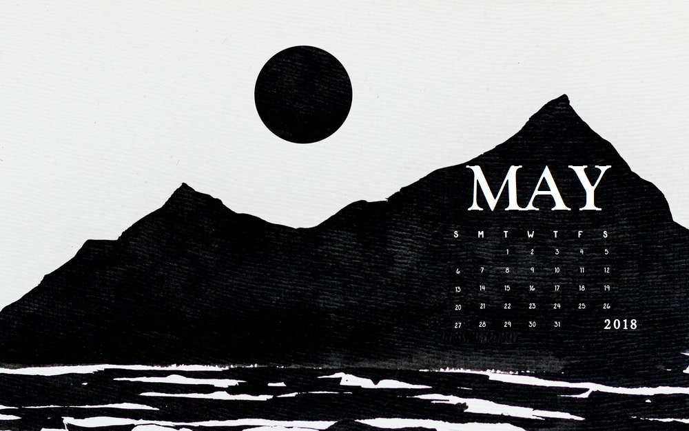 May 2018 Desktop Calendar