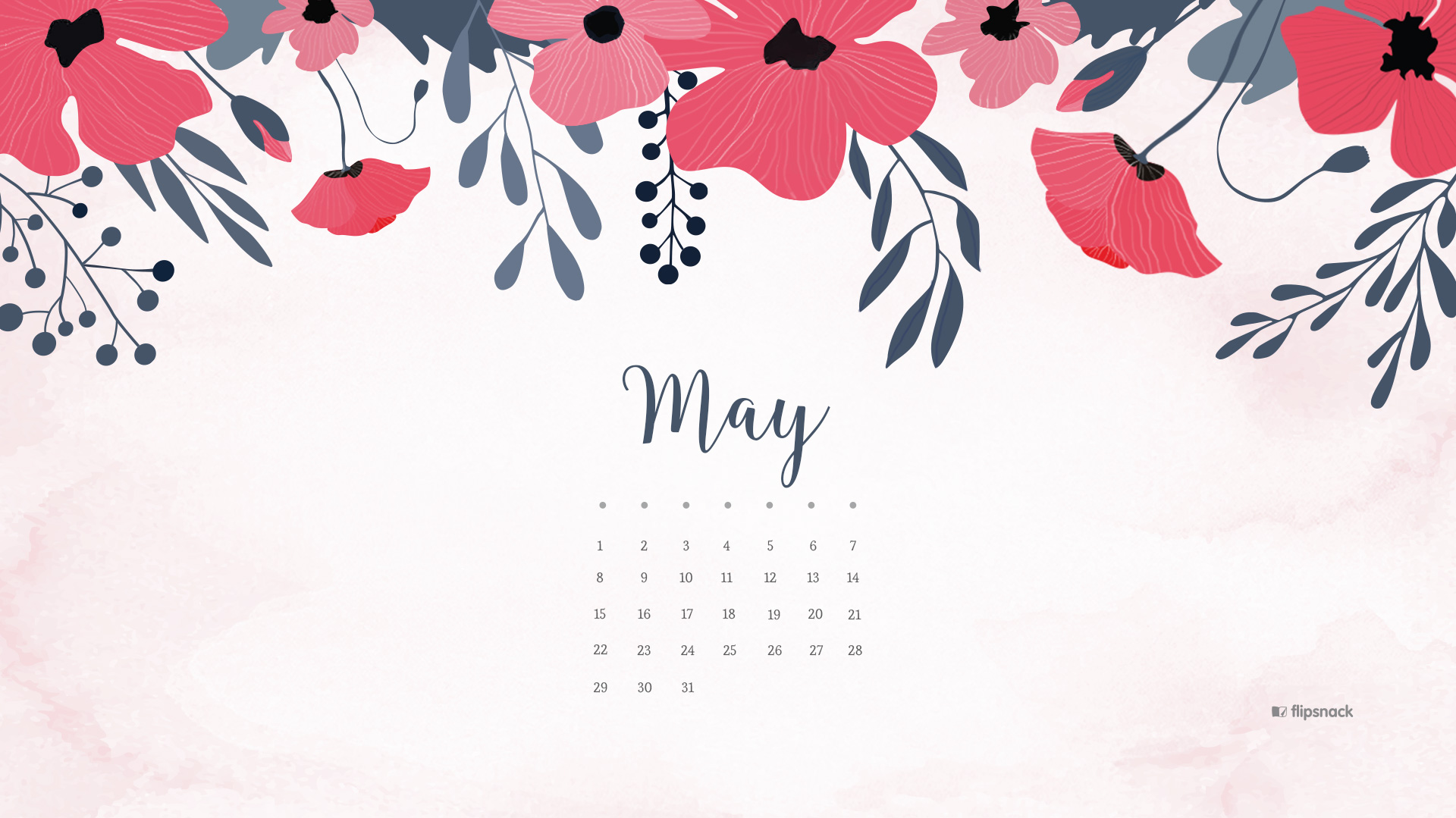 May 2018 Free Wallpaper Calendar