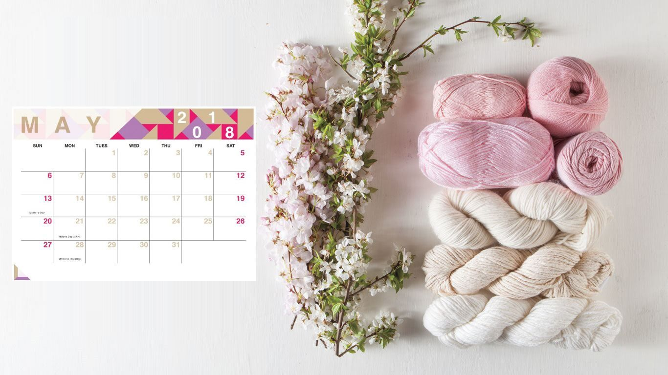 May 2018 Laptop Calendar Wallpaper