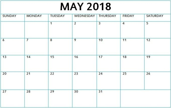 May 2018 Malayalam Calendar Printable