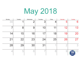 May 2018 Malaysia Calendar with Holidays