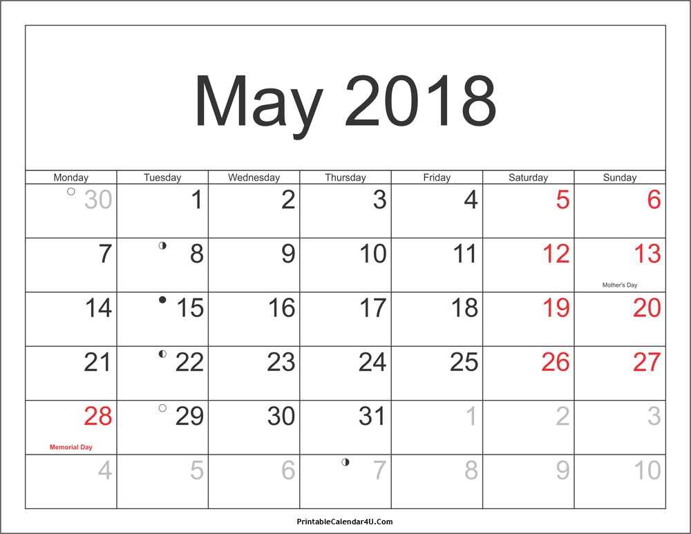 May 2018 South Africa Calendar With Holidays