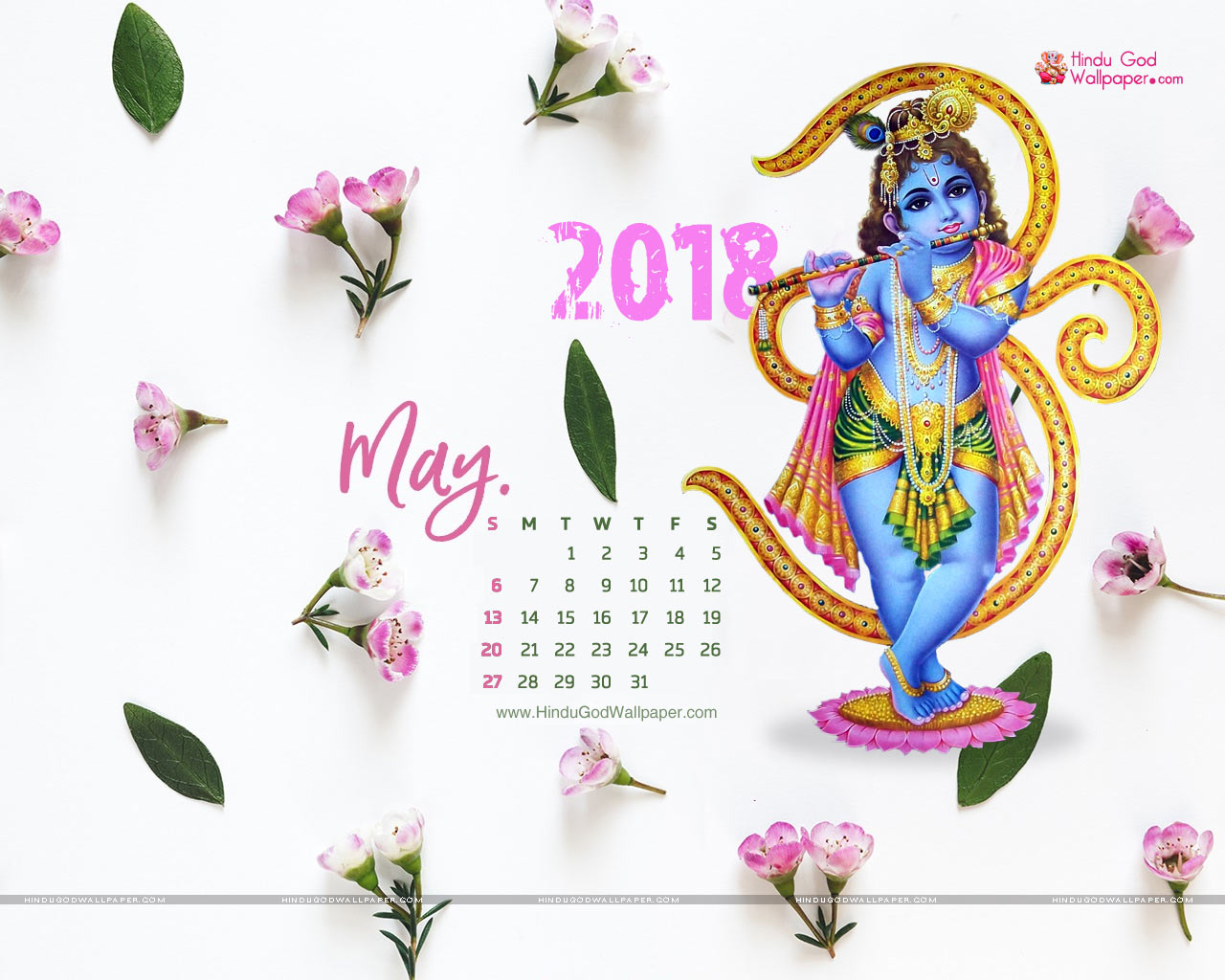 May 2018 Wall Calendar Wallpaper