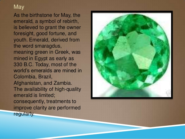 May Birthstone Emerald Meaning