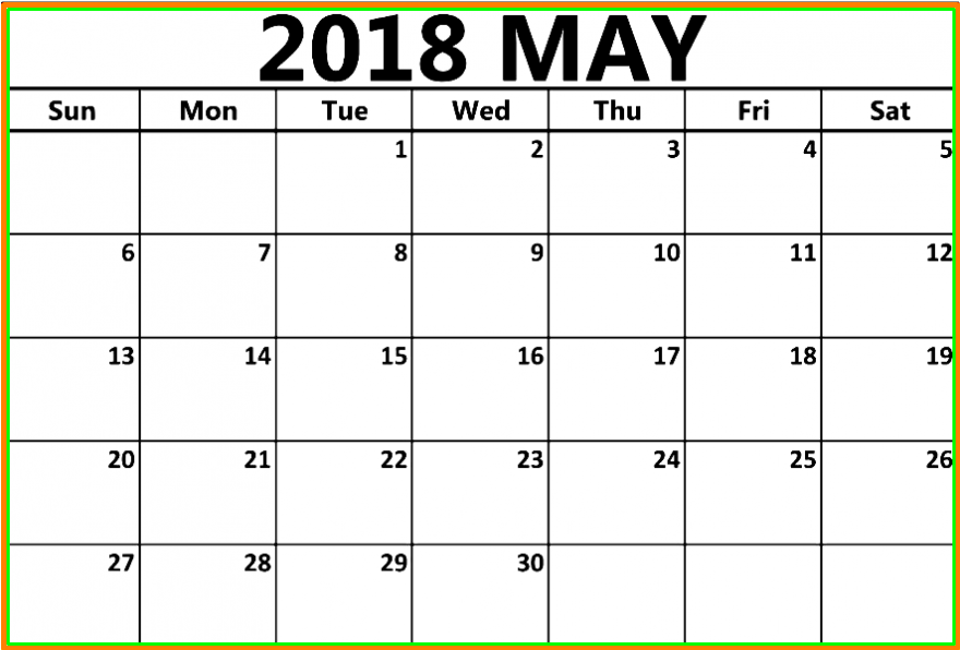 May Calendar 2018 Telugu