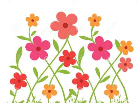 May Flowers Border Clipart