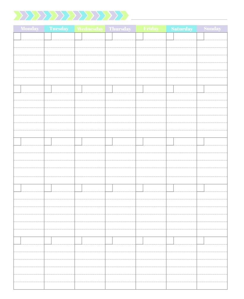 Monthly Task Organizer