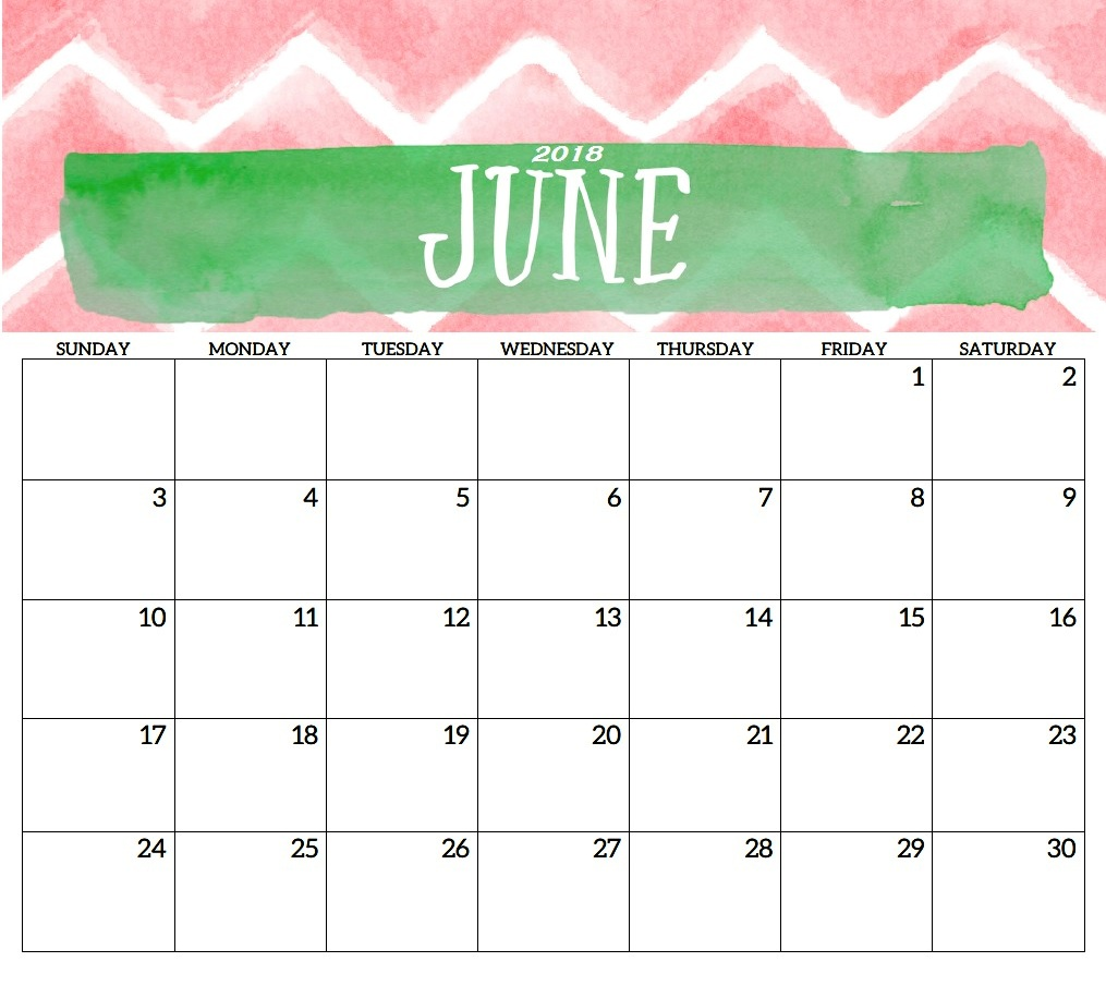 Online Kids Calendar June 2018