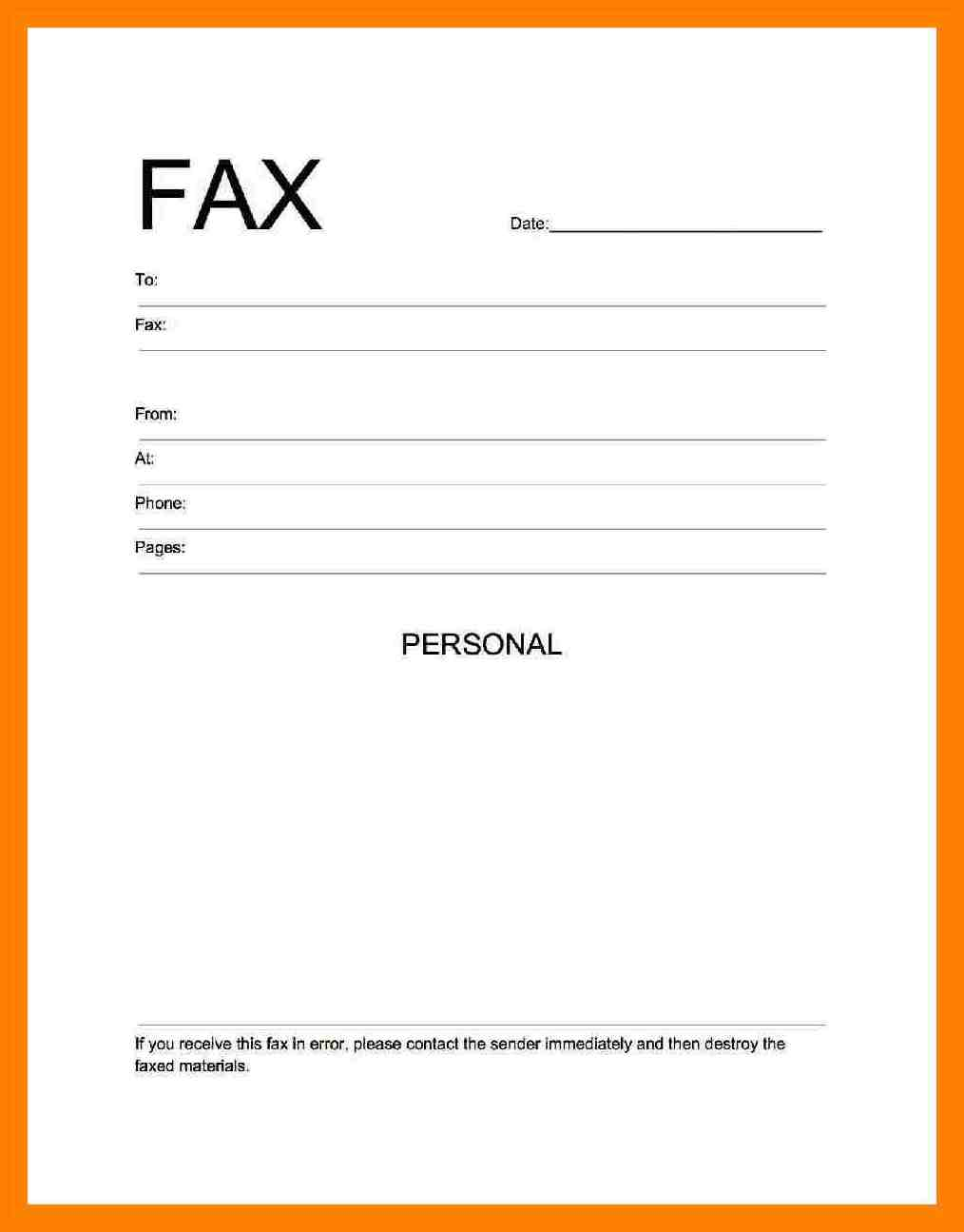 PDF Fax Cover Sheet
