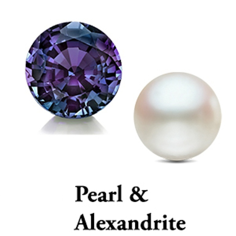 Pearl and Alexandrite June Birthstone