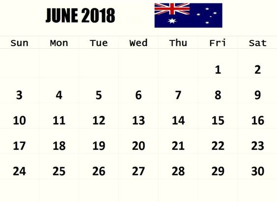 Printable June 2018 Calendar With Holidays UK Template