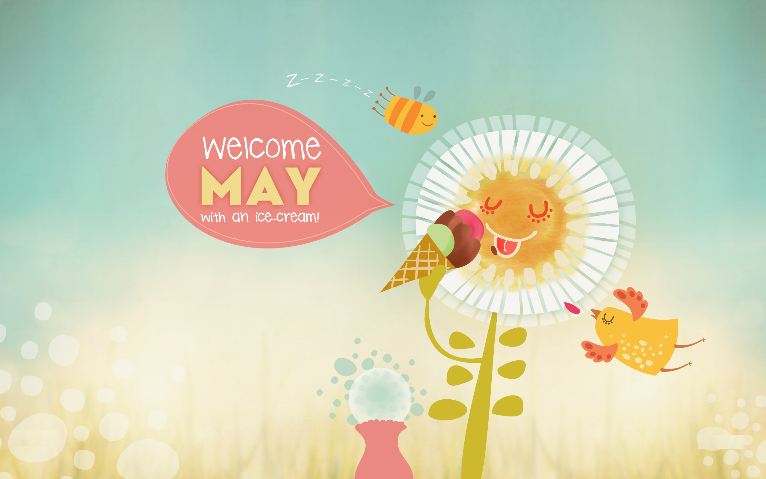Welcome May Images Greetings Card