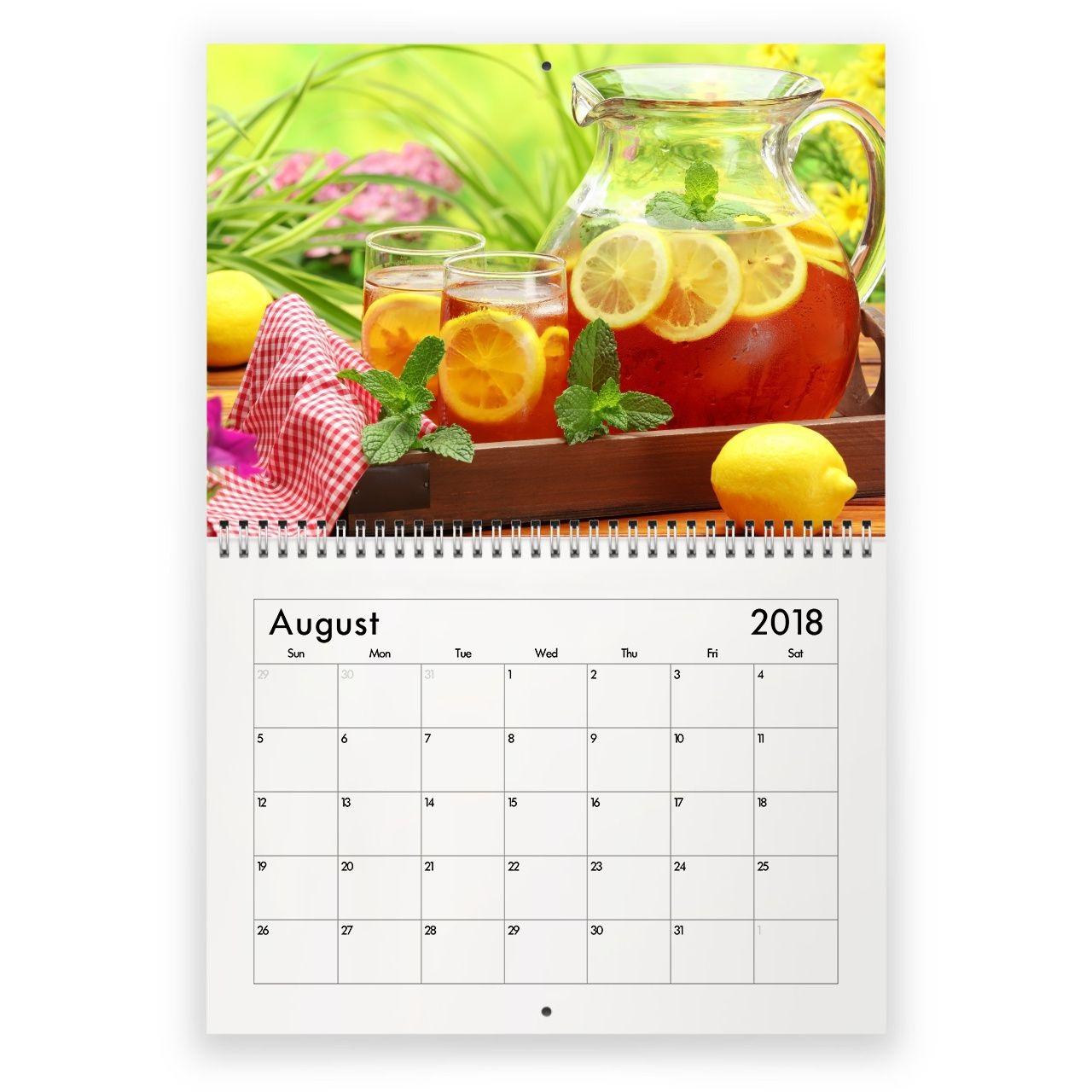 Amazing August 2018 Wall Calendar