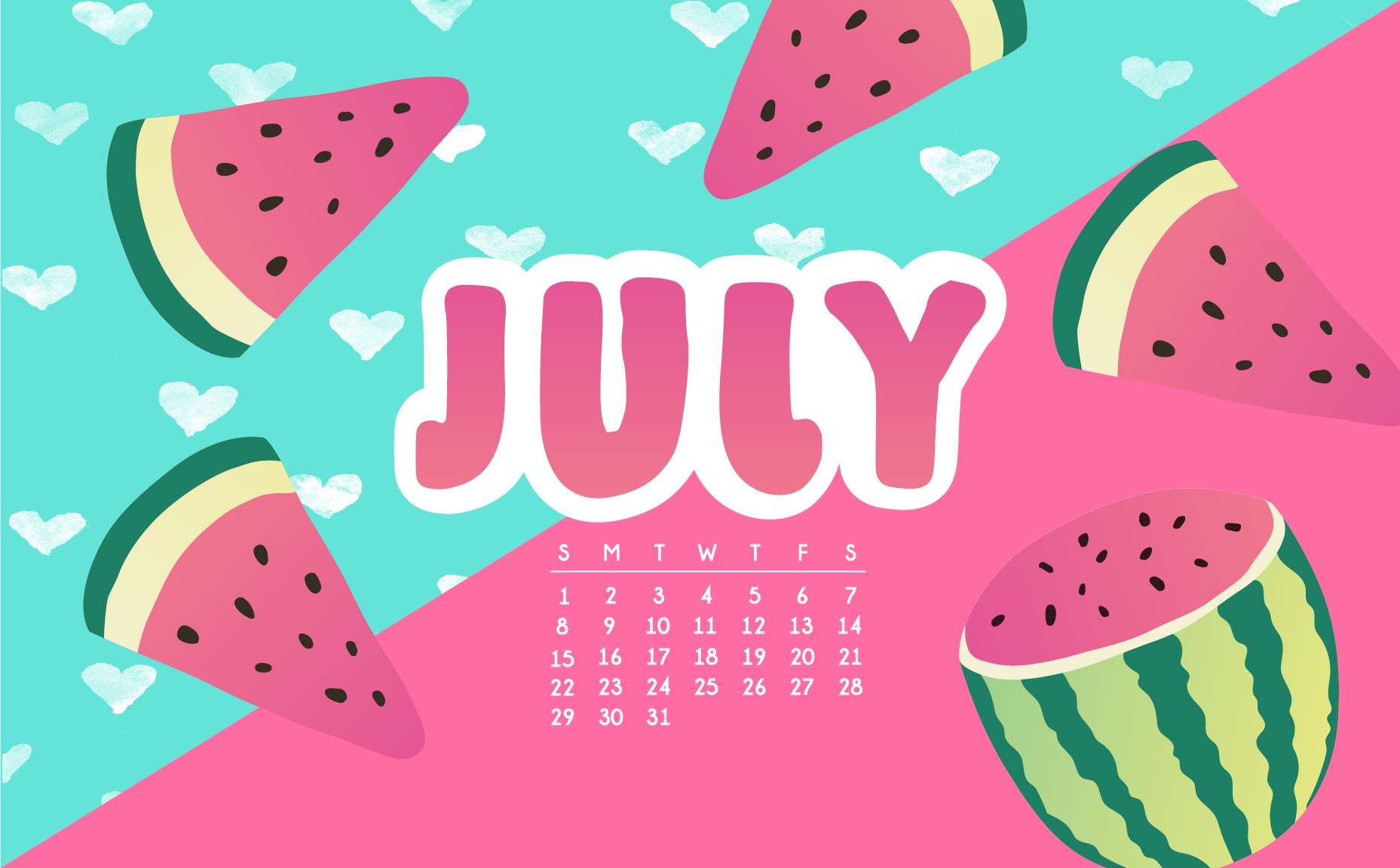 Amazing July 2018 Calendar Wallpapers