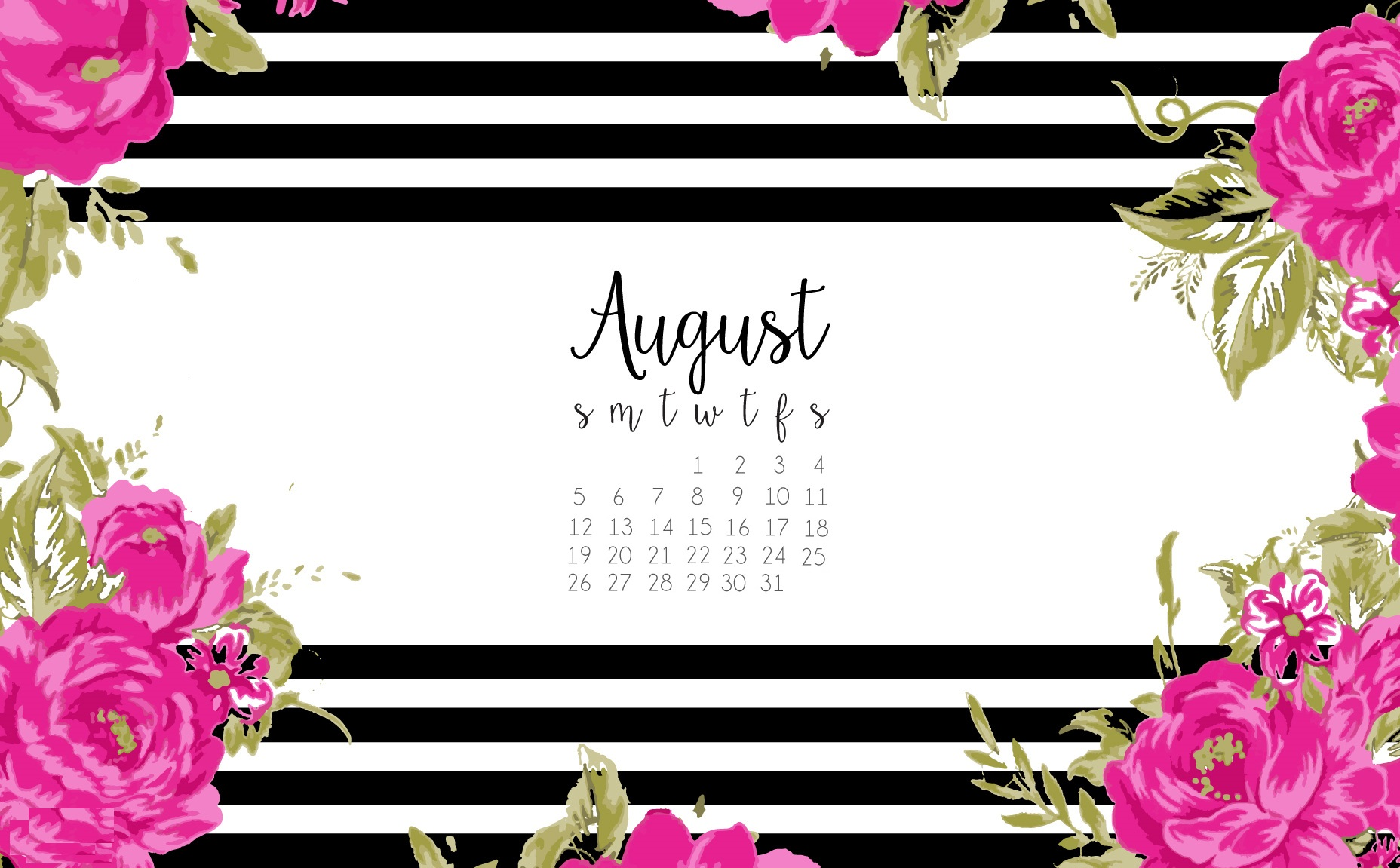August 2018 Design Calendar Wallpapers