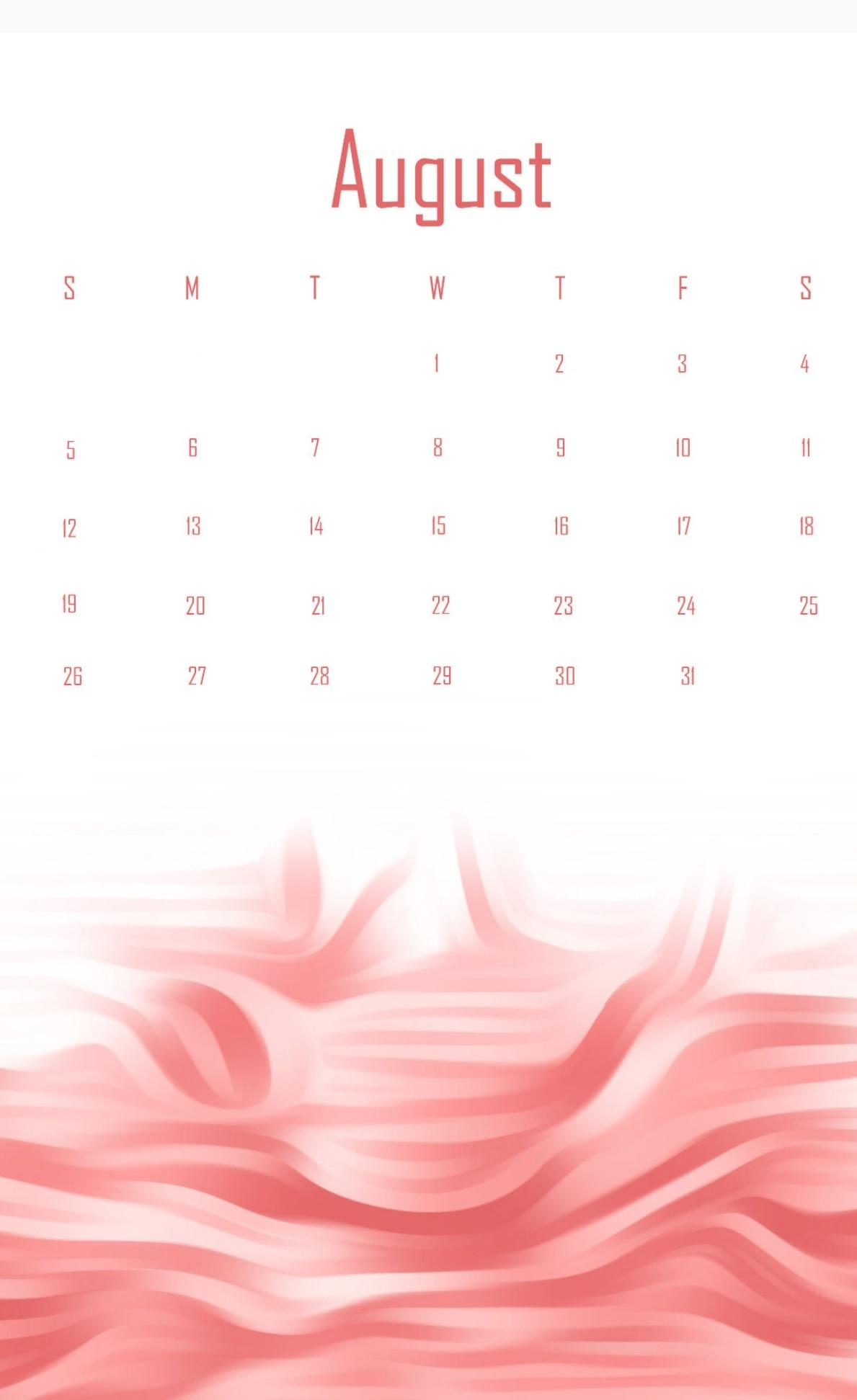 August 2018 Desk Calendar Template