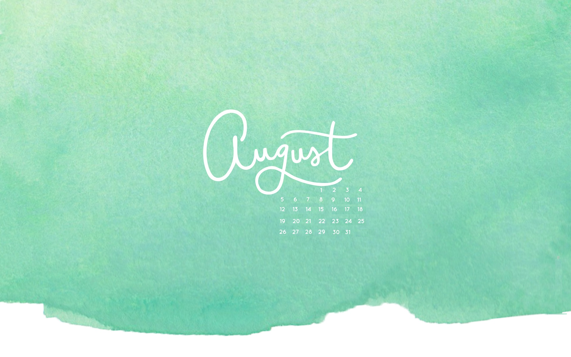 August 2018 Desktop Calendar Wallpapers