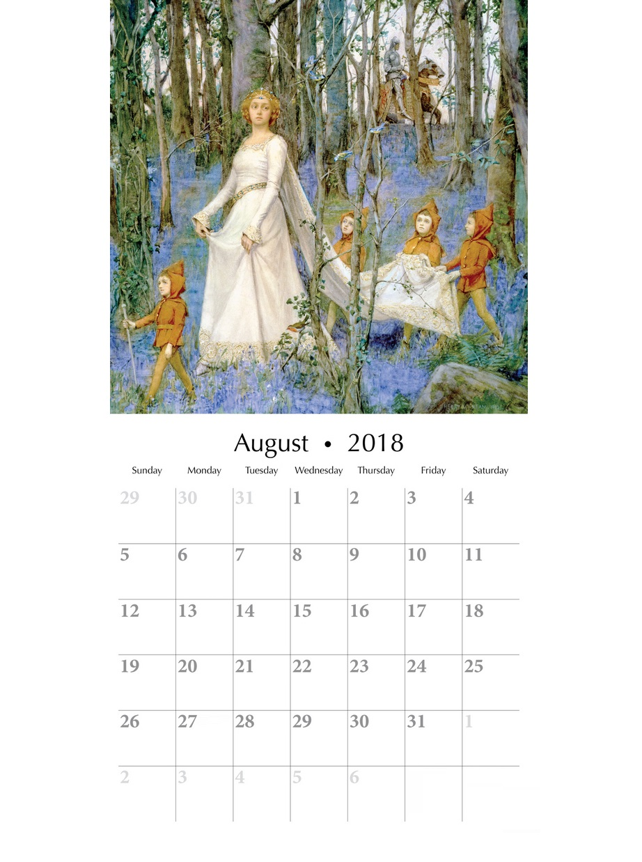 August 2018 Fairies Wall Calendar