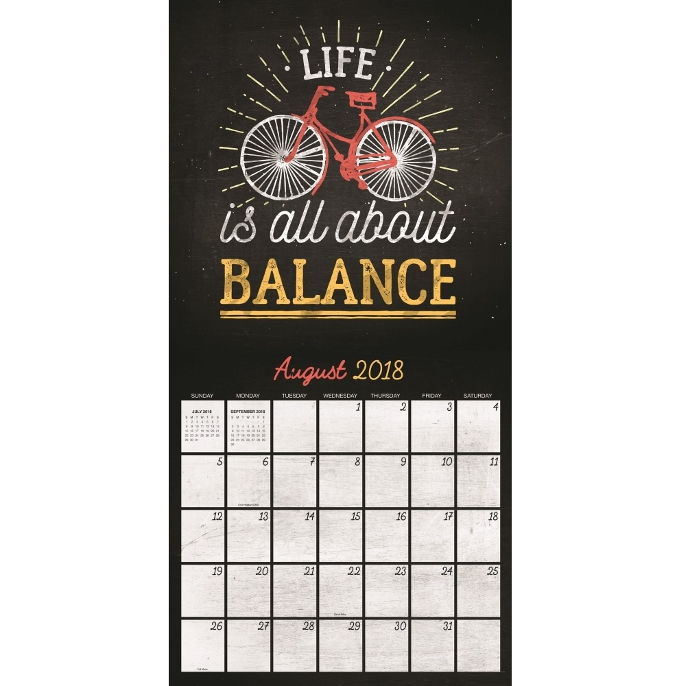 August 2018 Inspiring Wall Calendar