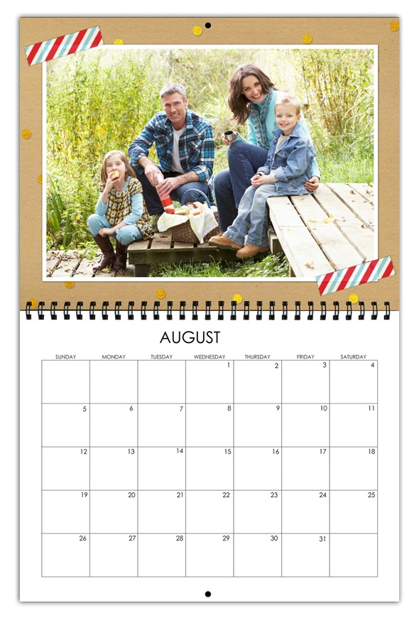 August 2018 Personalized Photo Calendar