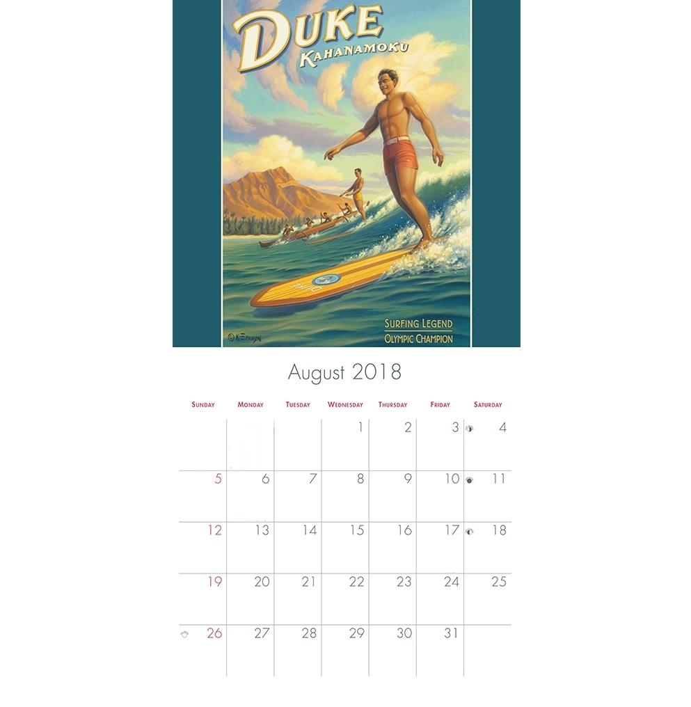 August 2018 Wall Calendar Template