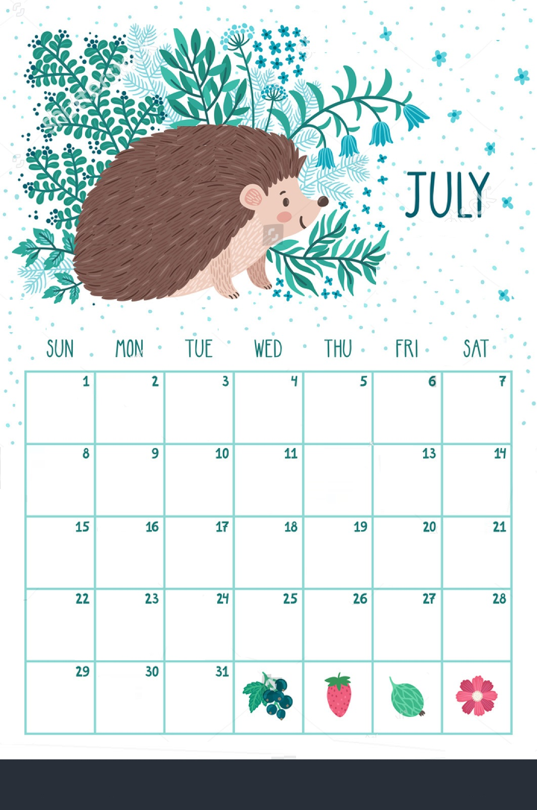 Awesome July Month 2018 Calendar Designs