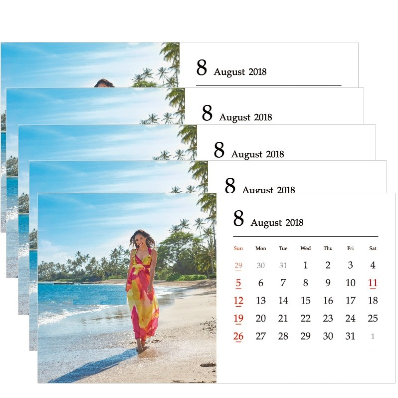 Beautiful August 2018 Desk Calendar