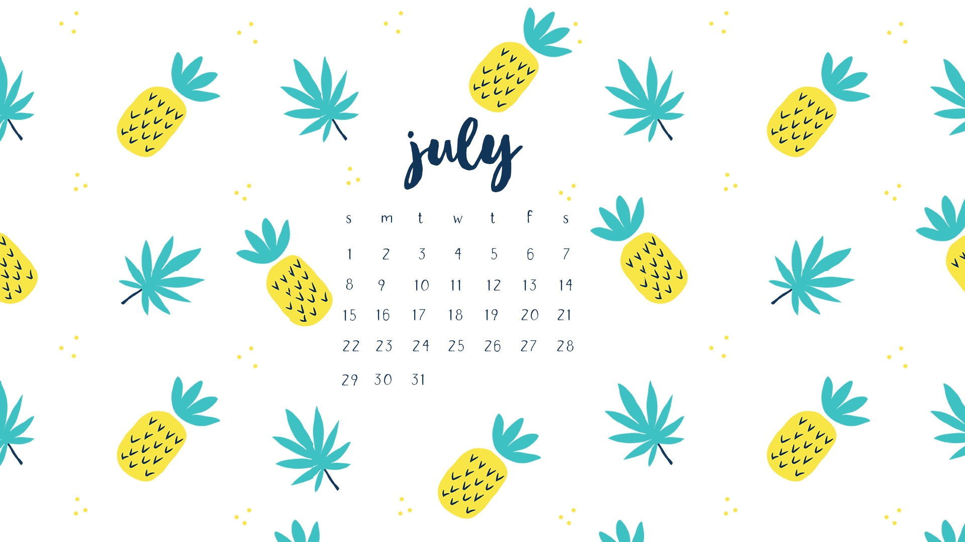 Beautiful July 2018 Calendar Wallpapers
