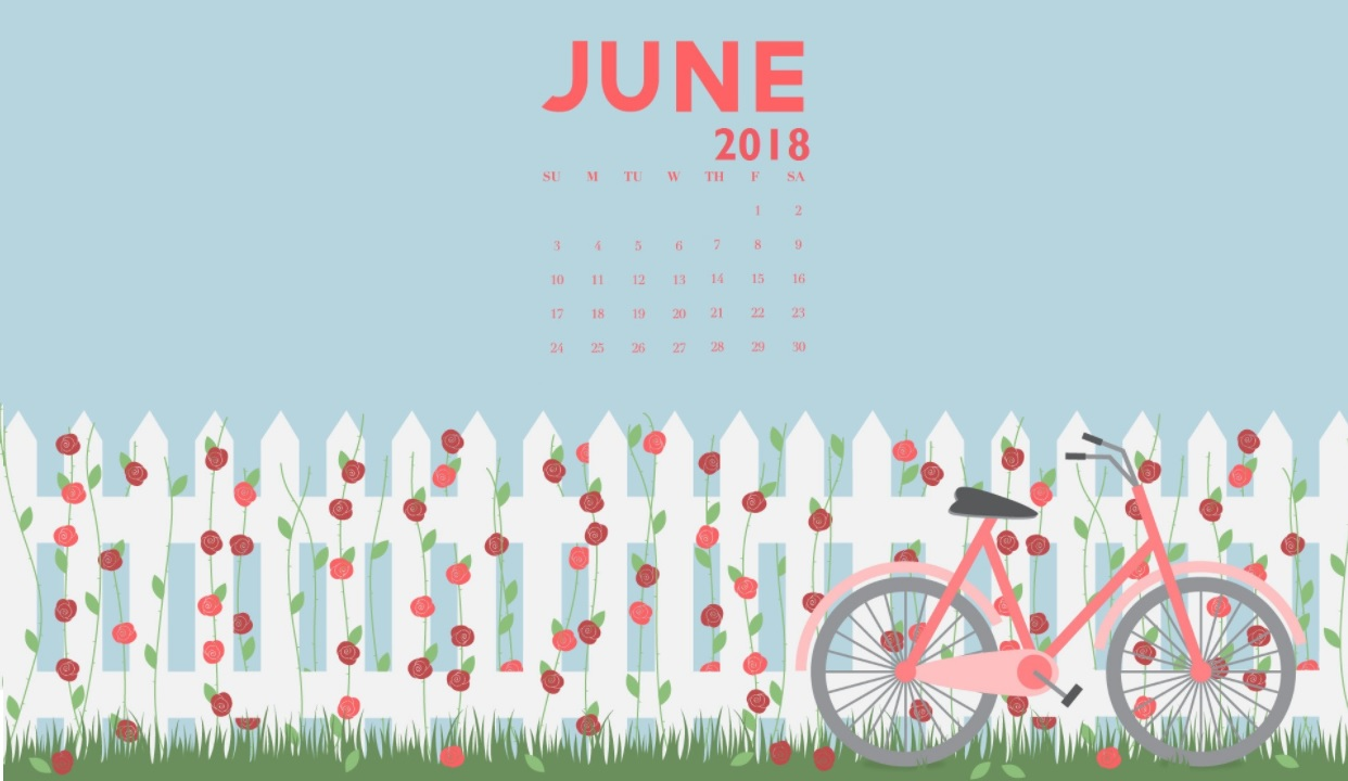 Beautiful June 2018 Calendar Wallpapers