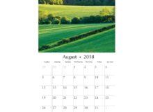 Best August 2018 Wall Calendar