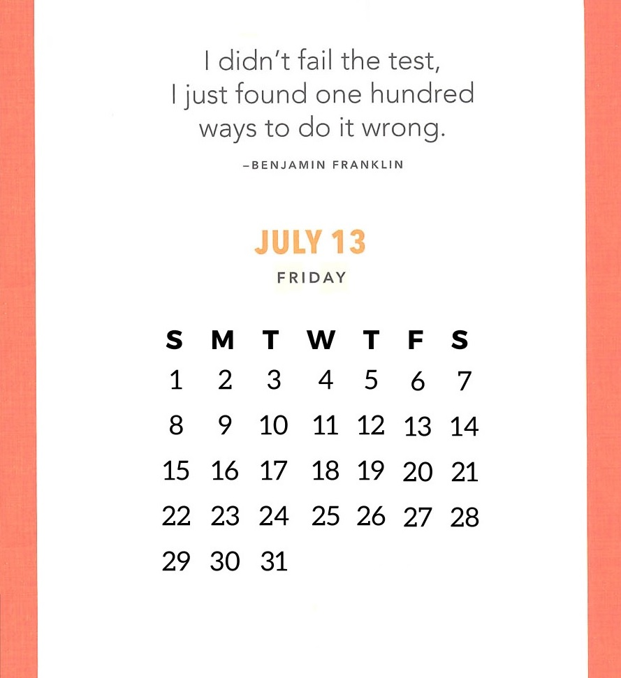 Best July 2018 Quotes Calendar