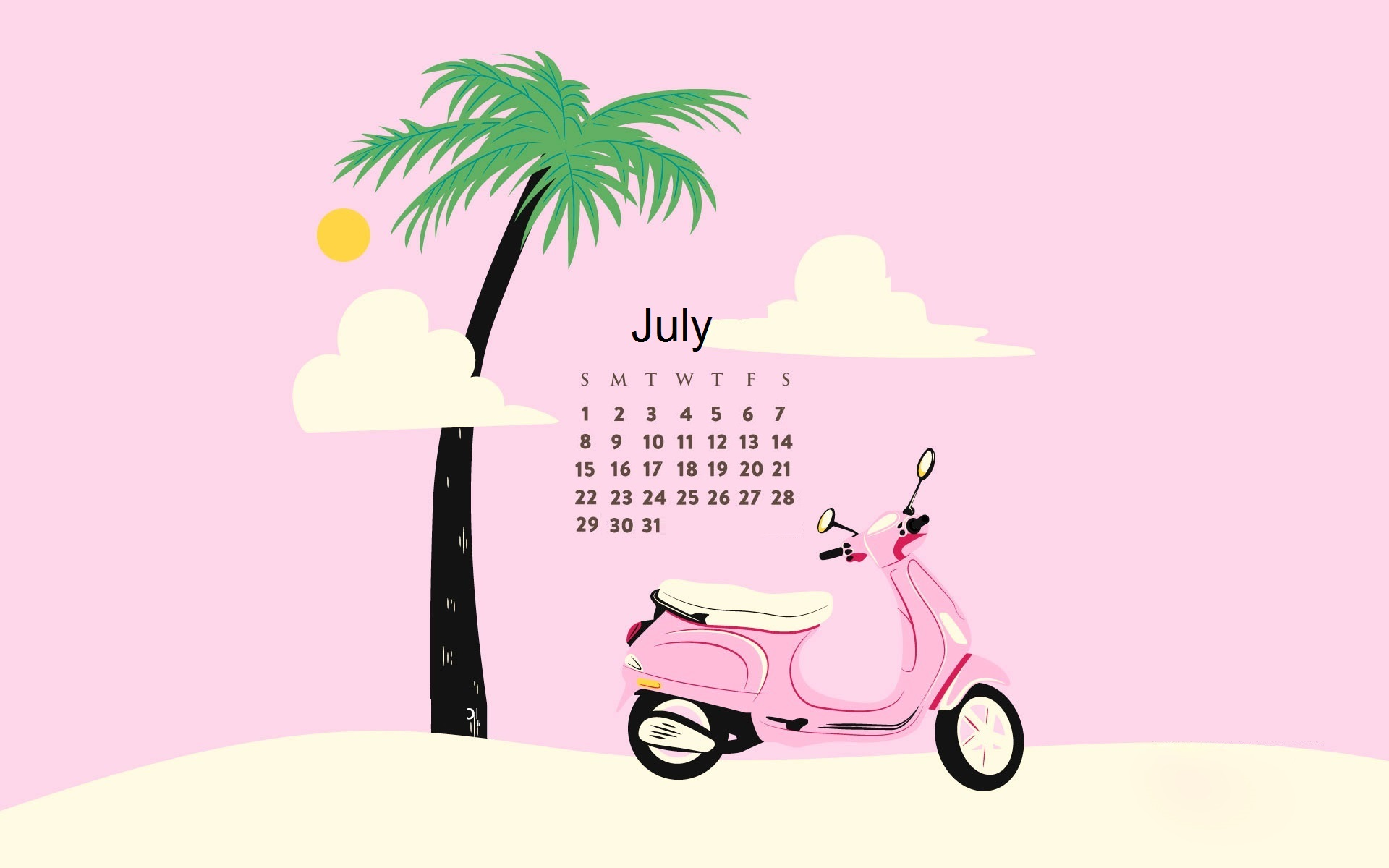 Best July Month 2018 Calendar Design