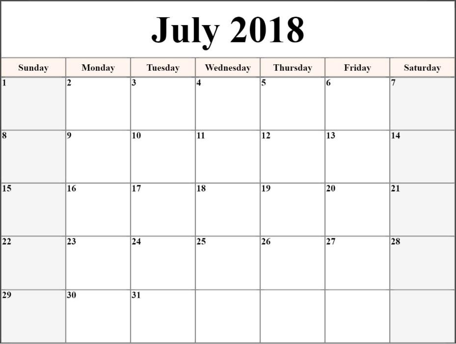 Blank Pdf Templates July 2018