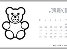 Calendario Junio 2018 Eduludik