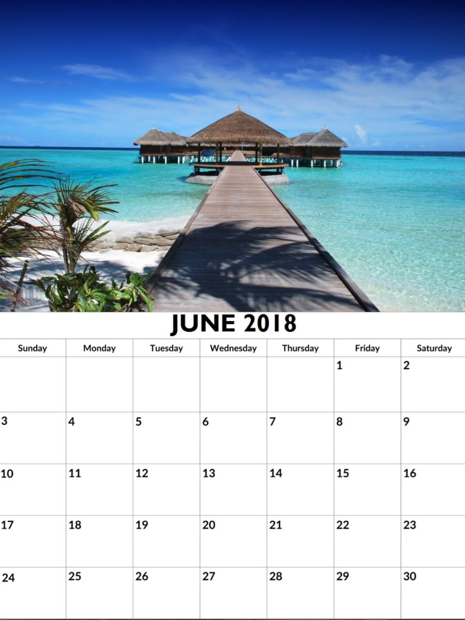 Custom June 2018 Personalized Calendar