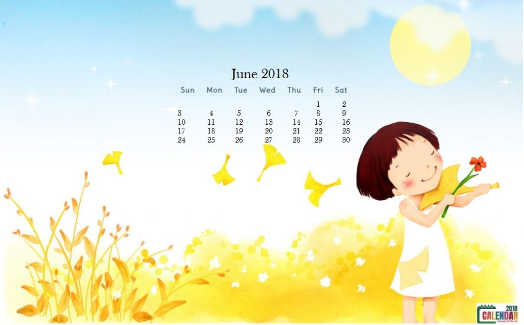 Cute June 2018 Calendar Wallpapers