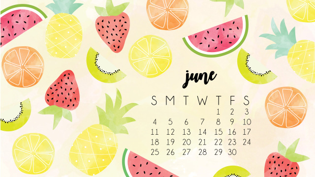 Desktop Calendar for June 2018
