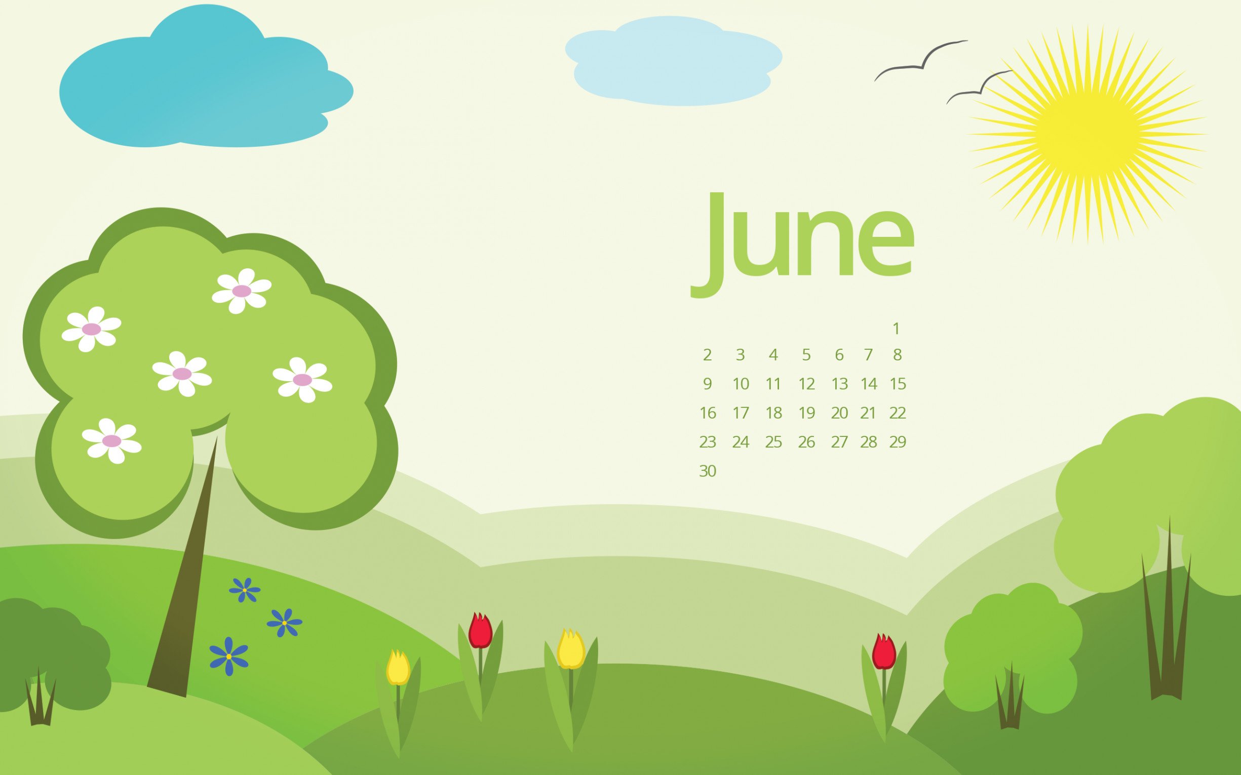 Desktop Wallpapers Calendar June-2018