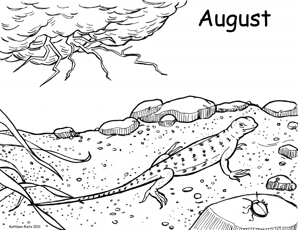Download August Coloring Page